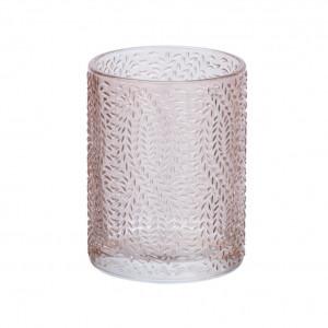 Suport roz din sticla pentru periuta dinti 7,5x10 cm Vetro Wenko