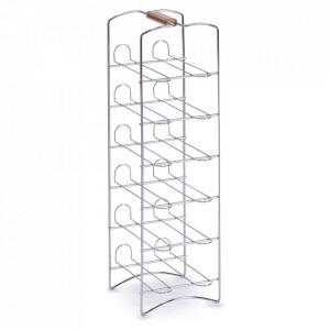 Suport sticle argintiu din metal Ama Zeller