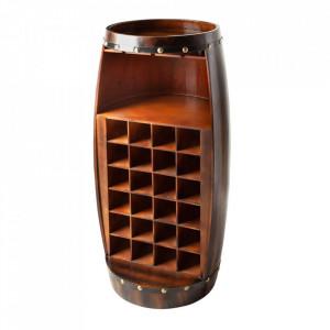 Suport sticle maro antichizat din lemn de brad Bodega Invicta Interior