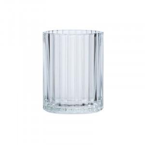 Suport transparenta din sticla pentru periuta dinti 7,5x10 cm Vetro Wenko