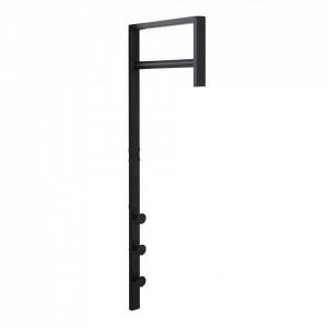 Suport umerase negru din metal 30 cm Trento House Nordic