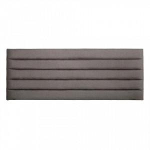 Tablie pat gri din lemn si poliester 160 cm Lines Ixia