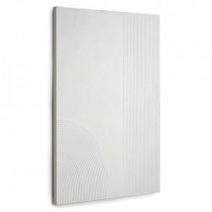Tablou alb din canvas si lemn de pin 80x110 cm Adelta Kave Home
