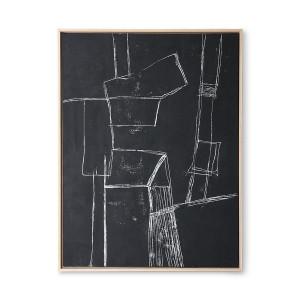 Tablou alb/negru din canvas si lemn 63x83 cm Brutalism HK Living