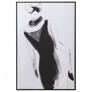 Tablou alb/negru din canvas si lemn de pin 83x123 cm Asfeld Ixia