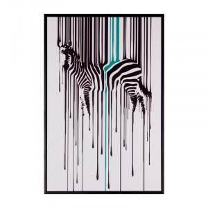 Tablou alb/negru din MDF si polistiren 40x60 cm Zebra Somcasa