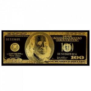 Tablou auriu/negru din sticla 80x200 cm Bills Ter Halle