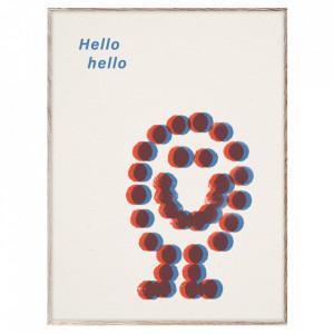Tablou cu rama din lemn de stejar 30x40 cm Hello Hello Paper Collective