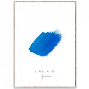 Tablou cu rama din lemn de stejar 30x40 cm Le Bleu II Paper Collective