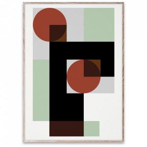 Tablou cu rama din lemn de stejar 50x70 cm BML 03 Paper Collective