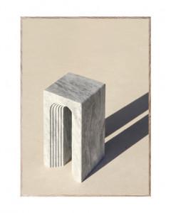 Tablou cu rama din lemn de stejar Neoclassic I Paper Collective