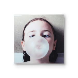 Tablou multicolor din aluminiu 80x80 cm Bubble Gum HK Living
