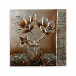 Tablou multicolor din canvas 60x60 cm Flowers Pot Versa Home