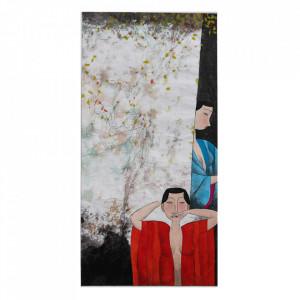 Tablou multicolor din hartie 24x40 cm Eva Versmissen