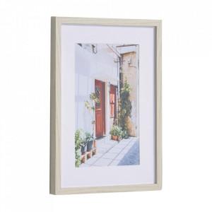 Tablou multicolor din hartie si MDF 30x40 cm Leyla Kave Home