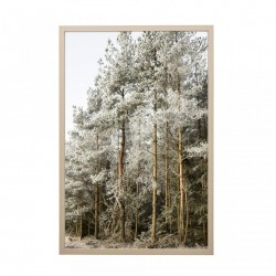 Tablou multicolor din PVC si MDF 42x62 cm Forest Bloomingville