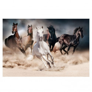 Tablou multicolor din sticla 80x120 cm Horses Signal Meble