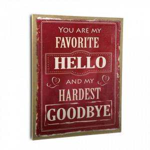 Tablou rosu/alb din canvas 46x56 cm Red Messages Versa Home