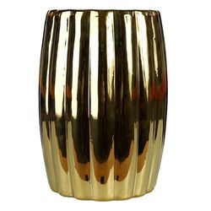 Taburet ceramica auriu Curvy Pols Potten