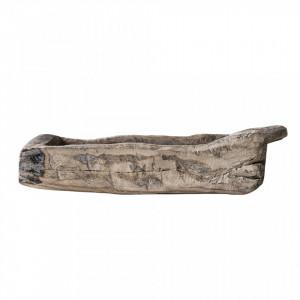 Tava decorativa dreptunghiulara maro din lemn 25,5x68,5 cm Forest Creative Collection