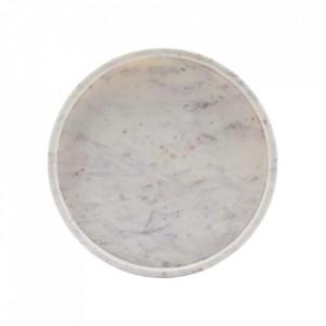 Tava rotunda alba din marmura 30 cm Poli House Doctor