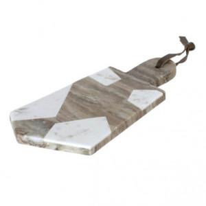 Tocator alb/gri din marmura 13x30 cm Vanina Kave Home