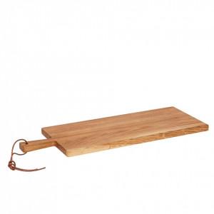 Tocator dreptunghiular maro din lemn de salcam 20x56 cm Wells Hubsch