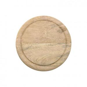 Tocator rotund maro din lemn de mango 25 cm Brad Board HK Living