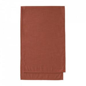 Traversa masa maro din textil 50x160 cm Samay Kave Home