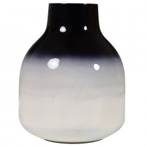 Vaza alb/negru din metal 18 cm Haley Zago