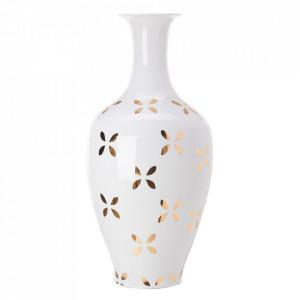Vaza alba/aurie din portelan 90 cm Classic Diagonal Pols Potten