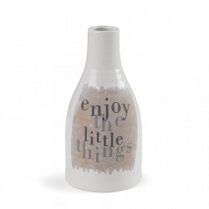 Vaza alba din ceramica 26 cm Bakti La Forma