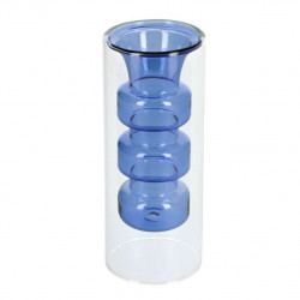 Vaza albastra/transparenta din sticla 20 cm Charlize Kave Home