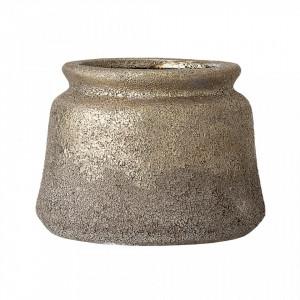 Vaza decorativa aurie din teracota 10 cm Divine Creative Collection