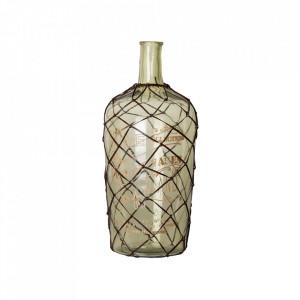 Vaza decorativa verde din sticla 36 cm Luis Vical Home