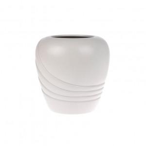 Vaza gri din ceramica 19 cm Matt Flower HK Living