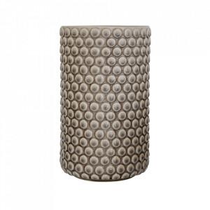 Vaza gri din ceramica 21 cm Dots Bloomingville