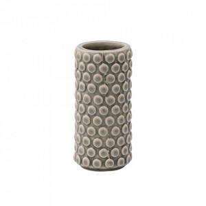 Vaza gri din ceramica 9 cm Bubbles Bloomingville