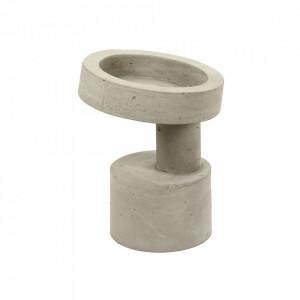 Vaza gri din ciment 28 cm Klara Serax