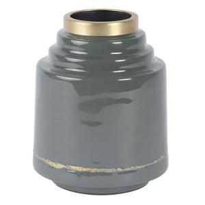 Vaza gri din metal 19 cm Olia Zago