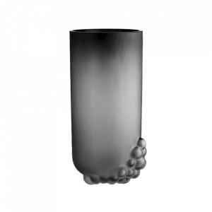 Vaza gri fum din sticla 37 cm Bulk Bolia