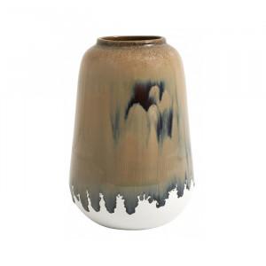 Vaza maro/alba din ceramica 18 cm Lynch Nordal