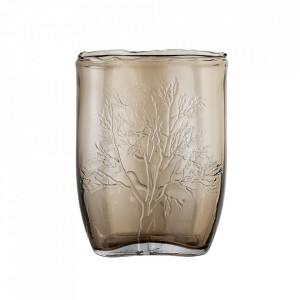 Vaza maro din sticla 26 cm Nature Bloomingville