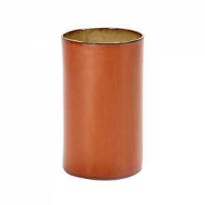 Vaza maro ruginiu din ceramica 21 cm Terres de Reves Serax