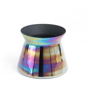 Vaza multicolora din sticla 18 cm Synchrony La Forma