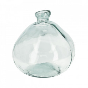 Vaza transparenta din sticla reciclata 33 cm Breena Kave Home