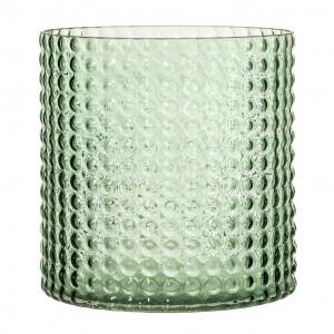 Vaza verde din sticla 16 cm Bubbles Bloomingville