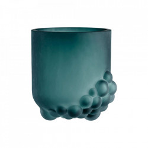 Vaza verde din sticla 18 cm Bulk Bolia
