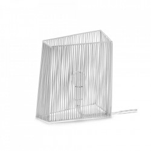Veioza alba din otel 26 cm Ombre Serax