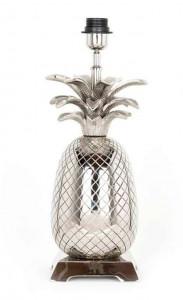 Veioza argintie din aluminiu 38 cm Anne Richmond Interiors